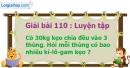 Bài 110 : Luyện tập