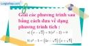 Bài 31 trang 10 SBT toán 8 tập 2