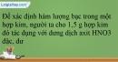 Bài 19.13 trang 43 SBT Hóa học 12