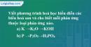 Bài 36.9 Trang 49 SBT hóa học 8