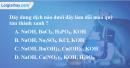 Bài 37.1 Trang 50 SBT hóa học 8