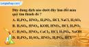 Bài 37.2 Trang 50 SBT hóa học 8