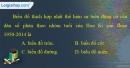 Câu 12 trang 30 SBT địa 11