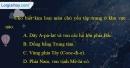 Câu 8 trang 29 SBT địa 11