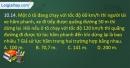 Bài 10.14, 10.15, 10.16, 10.17, 10.18 trang 27 SBT Vật lí 10