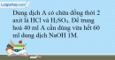 Bài 23.11 trang 56 SBT Hóa học 10