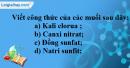 Bài 37.18 Trang 52 SBT hóa học 8