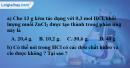 Bài 38.11 Trang 53 SBT hóa học 8