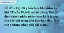 Bài 38.5 Trang 53 SBT hóa học 8
