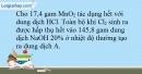 Bài 24.9 trang 58 SBT Hóa học 10