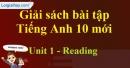 Reading - trang 8 Unit 1 SBT Tiếng anh 10 mới