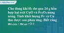 Bài 38.19 Trang 54 SBT hóa học 8
