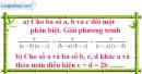 Bài III.2* phần bài tập bổ sung trang 18 SBT toán 8 tập 2