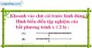 Bài 3.2 phần bài tập bổ sung trang 55 SBT toán 8 tập 2