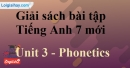 Phonetics - Unit 3 – SBT tiếng Anh 7 mới