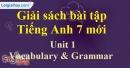 Vocabulary & Grammar - Unit 1 - SBT tiếng Anh 7 mới