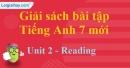Reading - Unit 2 – SBT tiếng Anh 7 mới