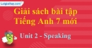 Speaking – Unit 2 – SBT tiếng Anh 7 mới.