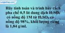 Bài 44.5 Trang 61 SBT hóa học 8