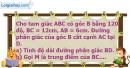 Bài 95 trang 122 SBT toán 9 tập 1