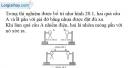 Bài 20.2 trang 44 SBT Vật lí 7