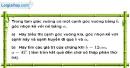 Bài 3.4 phần bài tập bổ sung trang 113 SBT toán 9 tập 1