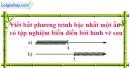 Bài 50 trang 57 SBT toán 8 tập 2