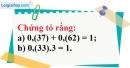 Bài 91 trang 24 SBT toán 7 tập 1