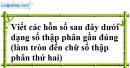 Bài 99 trang 25 SBT toán 7 tập 1