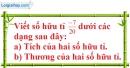 Bài 11 trang 8 SBT toán 7 tập 1