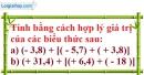 Bài 27 trang 12 SBT toán 7 tập 1