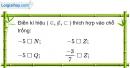 Bài 1 trang 5 SBT toán 7 tập 1