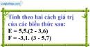 Bài 30 trang 13 SBT toán 7 tập 1