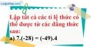 Bài 64 trang 19 SBT toán 7 tập 1