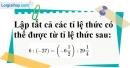 Bài 65 trang 20 SBT toán 7 tập 1