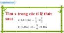 Bài 70 trang 20 SBT toán 7 tập 1