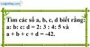 Bài 79 trang 22 SBT toán 7 tập 1