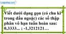 Bài 86 trang 23 SBT toán 7 tập 1