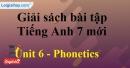 Phonetics - Unit 6 – SBT tiếng Anh 7 mới