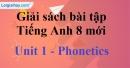 Phonetics - Unit 1 - SBT Tiếng Anh 8 mới