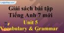 Vocabulary & Grammar – Unit 5 – SBT tiếng Anh 7 mới