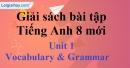 Vocabulary & Grammar - Unit 1 - SBT Tiếng Anh 8 mới