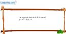 Bài 2.29 trang 43 SBT đại số 10