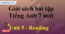Reading -  Unit 5 – SBT tiếng Anh 7 mới