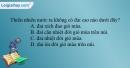 Câu 1 trang 28 SBT địa 12