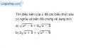 Bài 33 trang 10 SBT toán 9 tập 1
