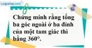 Bài 14 trang 138 SBT toán 7 tập 1