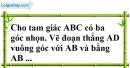 Bài 46 trang 143 SBT toán 7 tập 1