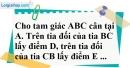 Bài 99 trang 151 SBT toán 7 tập 1
