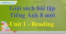 Reading - Unit 1 SBT Tiếng Anh 8 mới